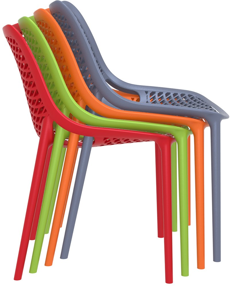 Air Chair Uv Stabilised Polypropylene Outdoor Stackable