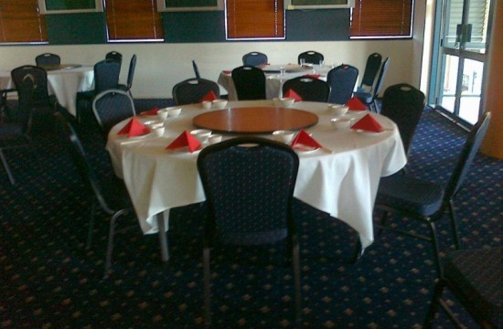 function chairs at chinese restaurant