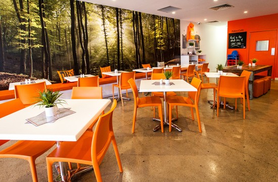 Paleo Cafe indoor tables and chairs