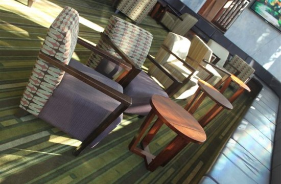 banquette club chairs
