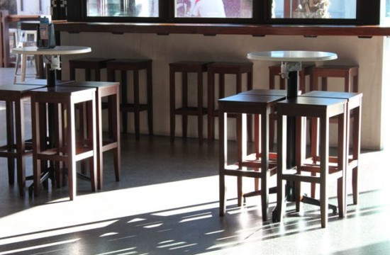 bar stools in hotel
