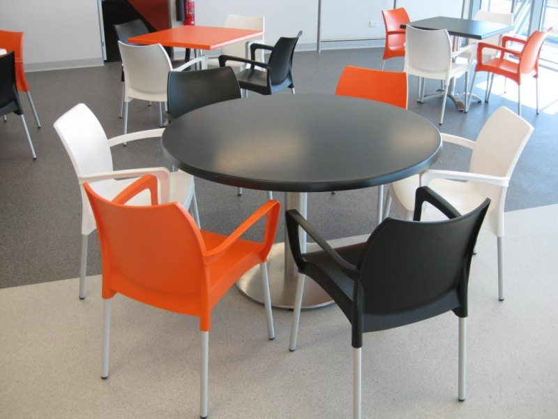 dolce chairs orange black white