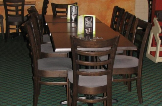 taffita chairs restaurant table setting