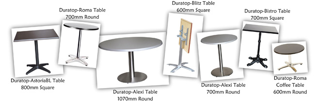 Duratop Cafe Table Designs