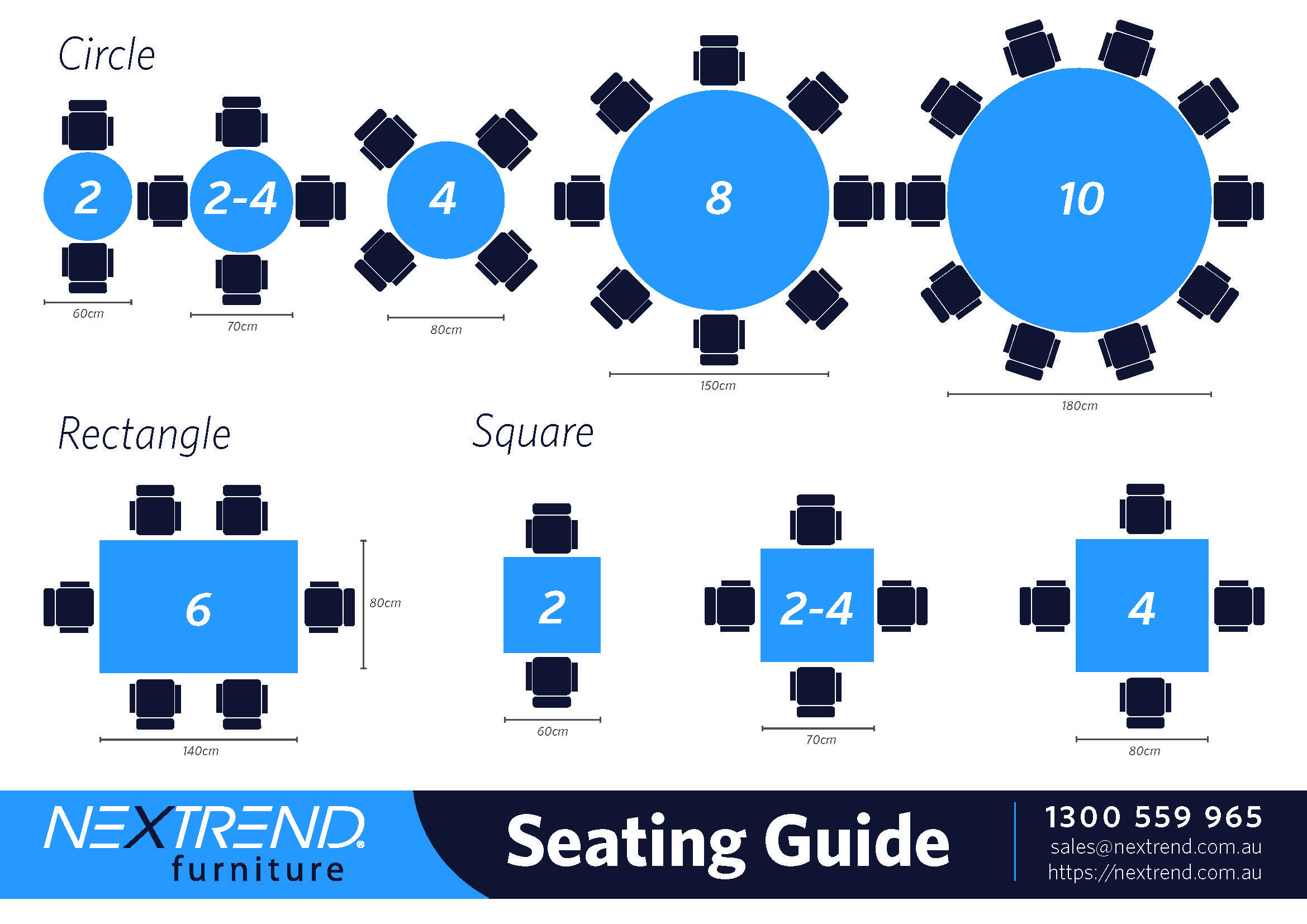 Surprising How To Choose The Right Size Table For Your Seating Download Free Architecture Designs Viewormadebymaigaardcom
