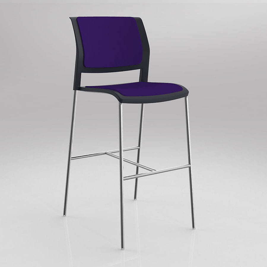 Game Barstool With Upholstered Seat And Back Nextrend