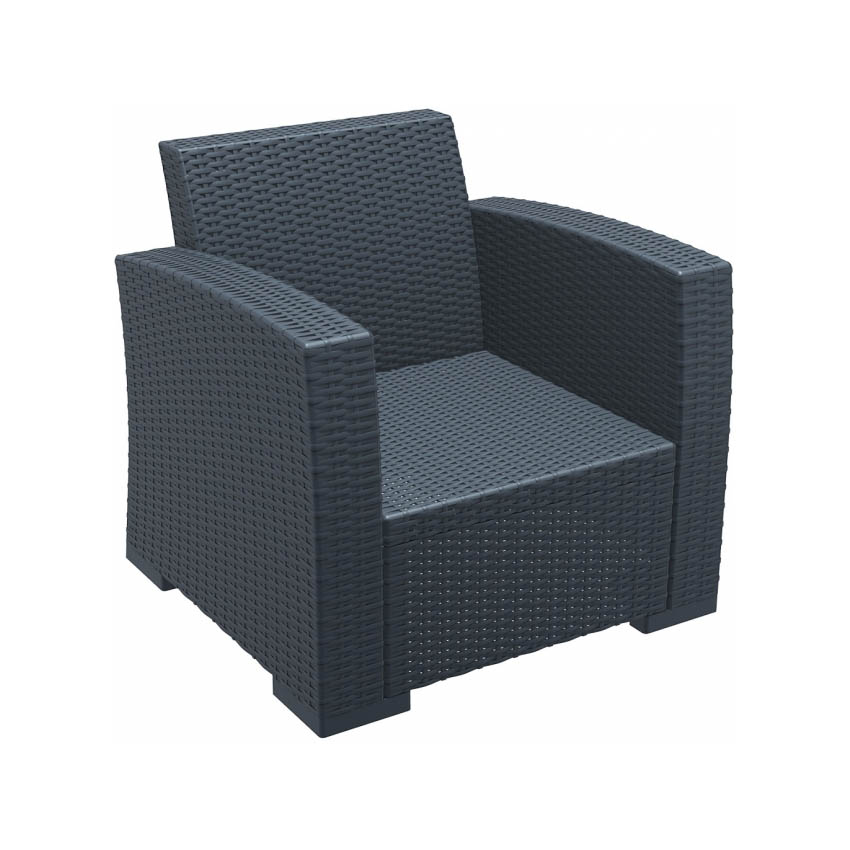Monaco Lounge Armchair Pair - Anthracite