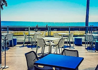 Vineyard Restaurant Bar in Hervey Bay - Air Chairs, Tables and Ocean View