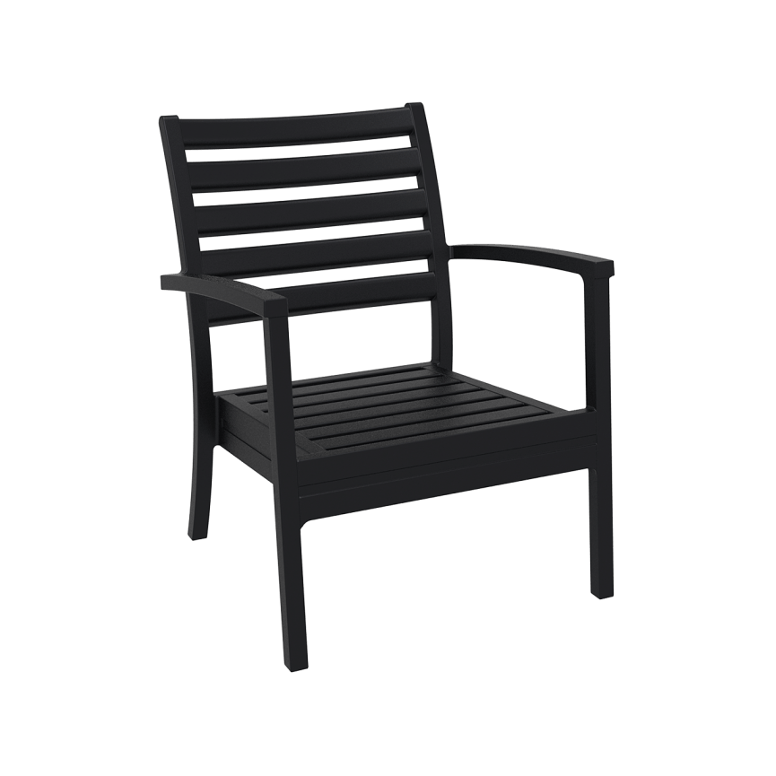 Artemis XL Lounge Armchair - Black