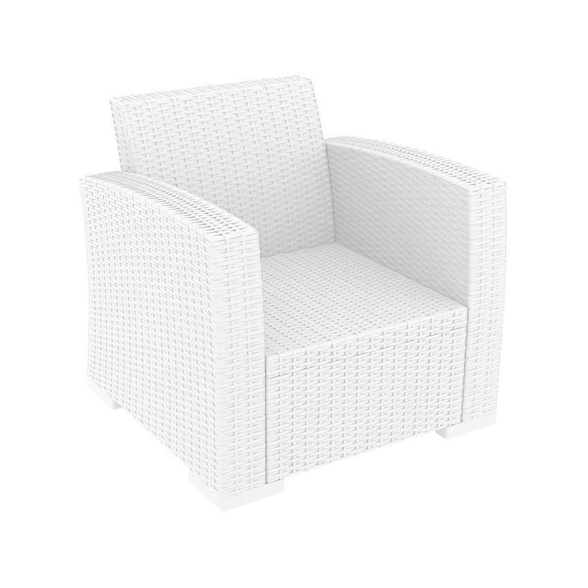 Monaco Lounge Armchair Pair - White