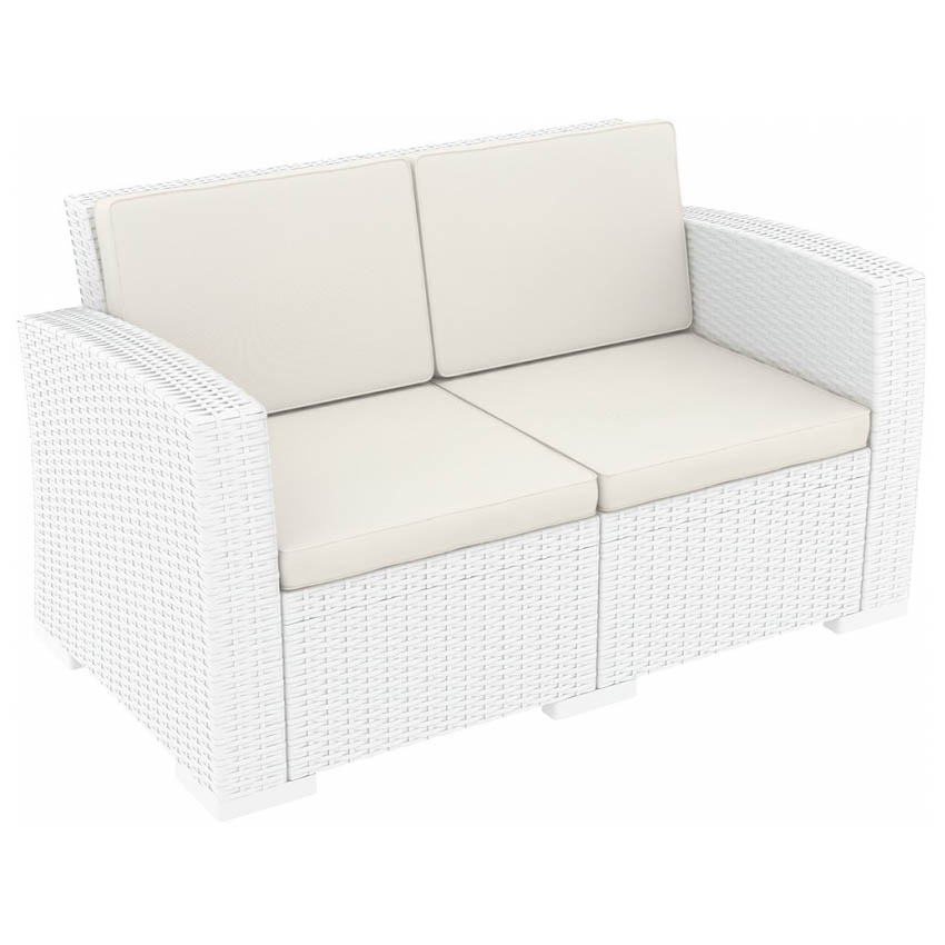 Monaco Lounge Sofa - White with cushion