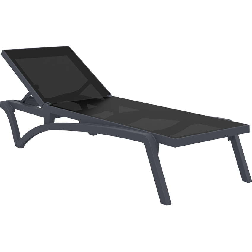 Pacific Sunlounger - Anthracite/Black
