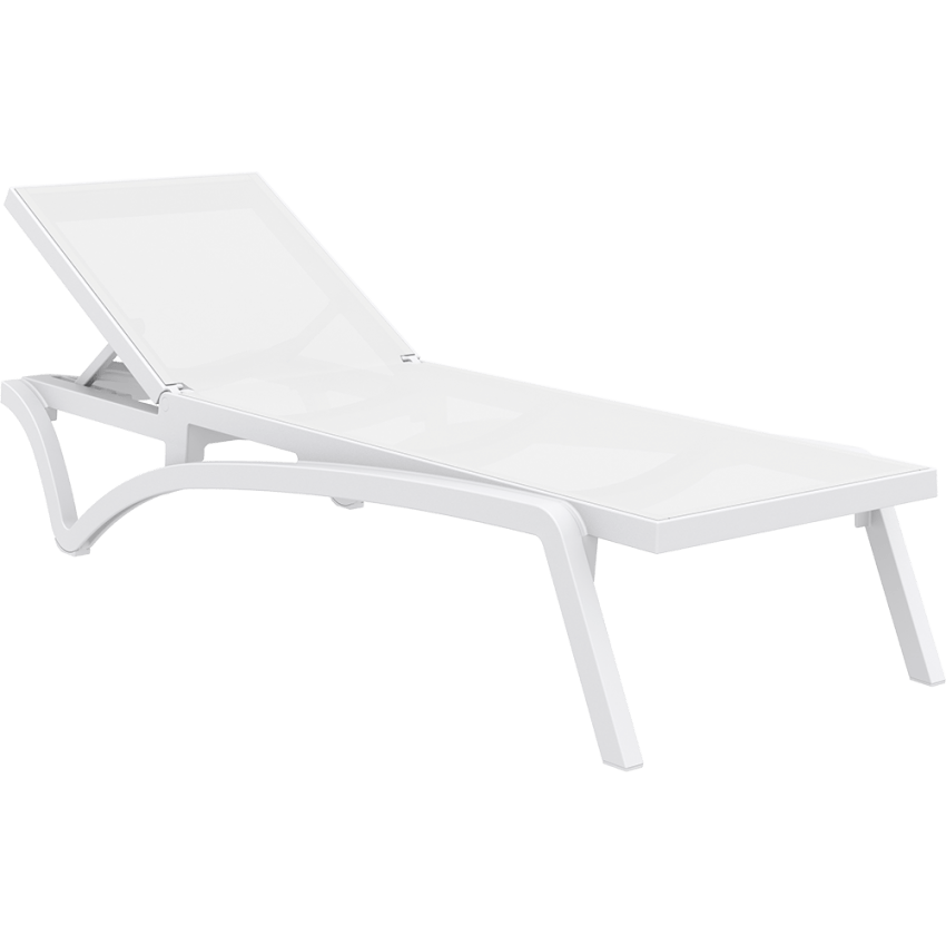 Pacific Sunlounger - White/White