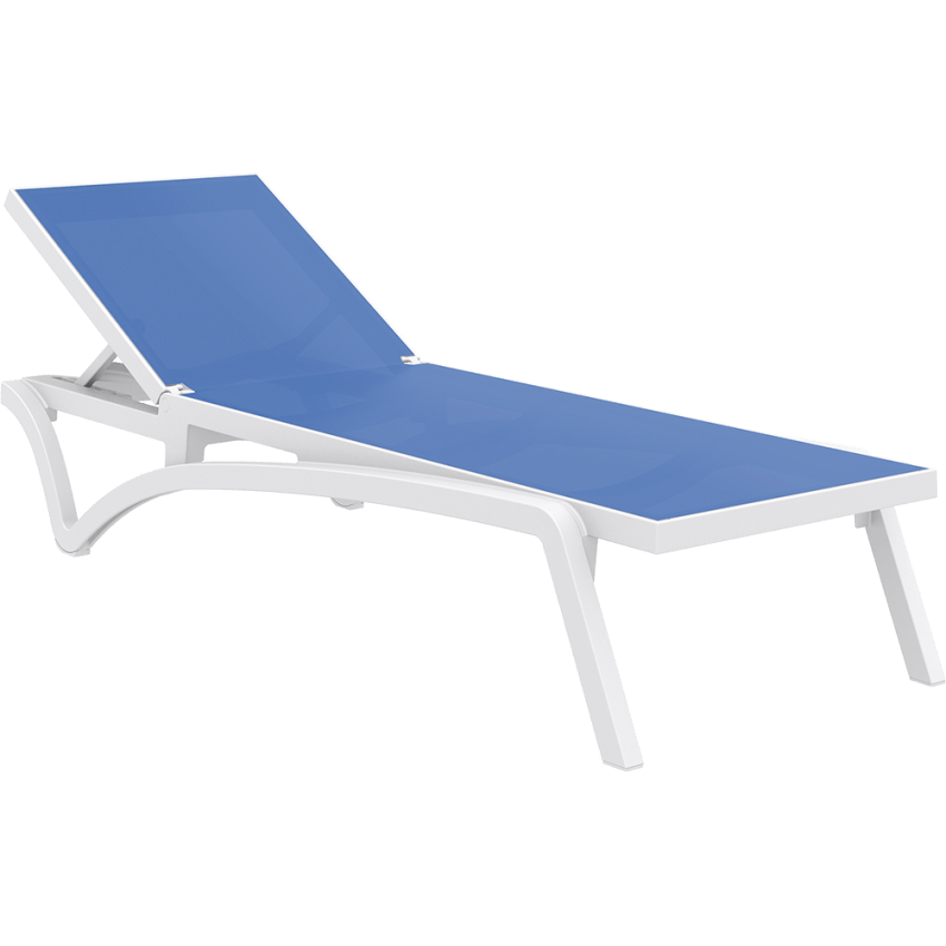 Pacific Sunlounger - White/Blue