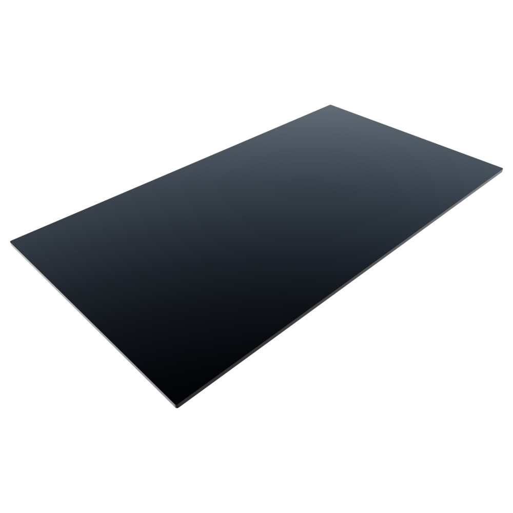 CL Black - 1400 x 800mm Rect. - 12mm