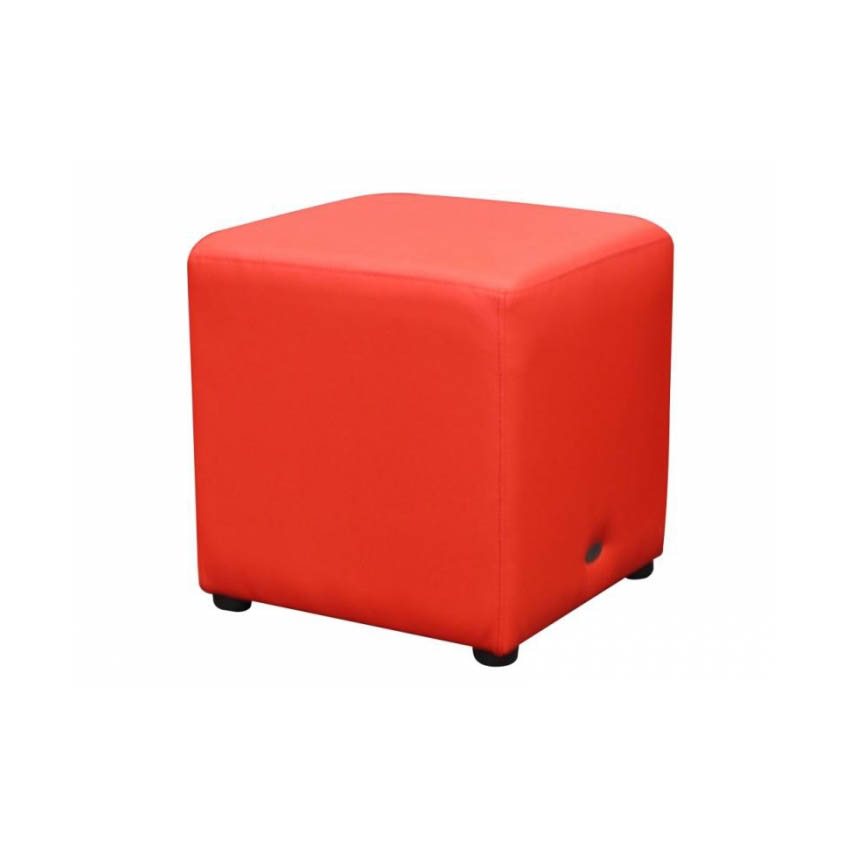Ottoman Cube - Red