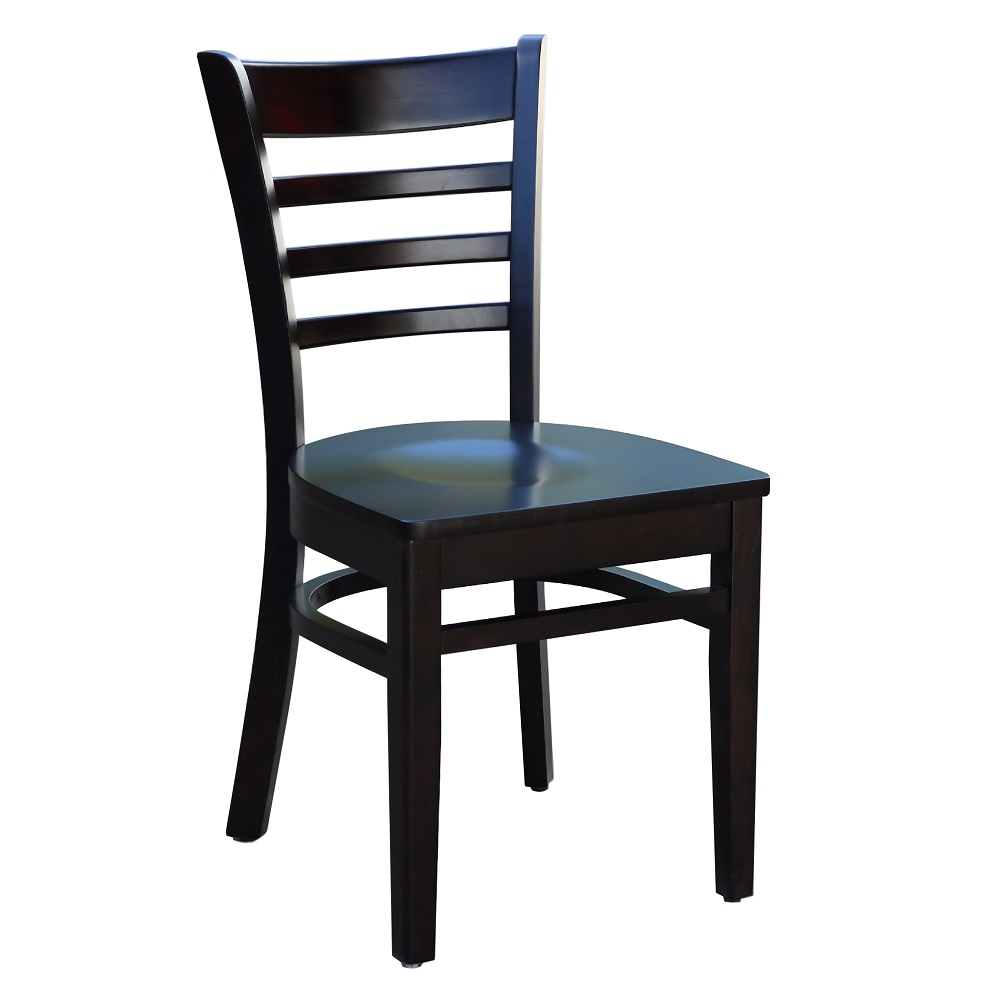 Florence Chair - Chocolate - Timber Seat