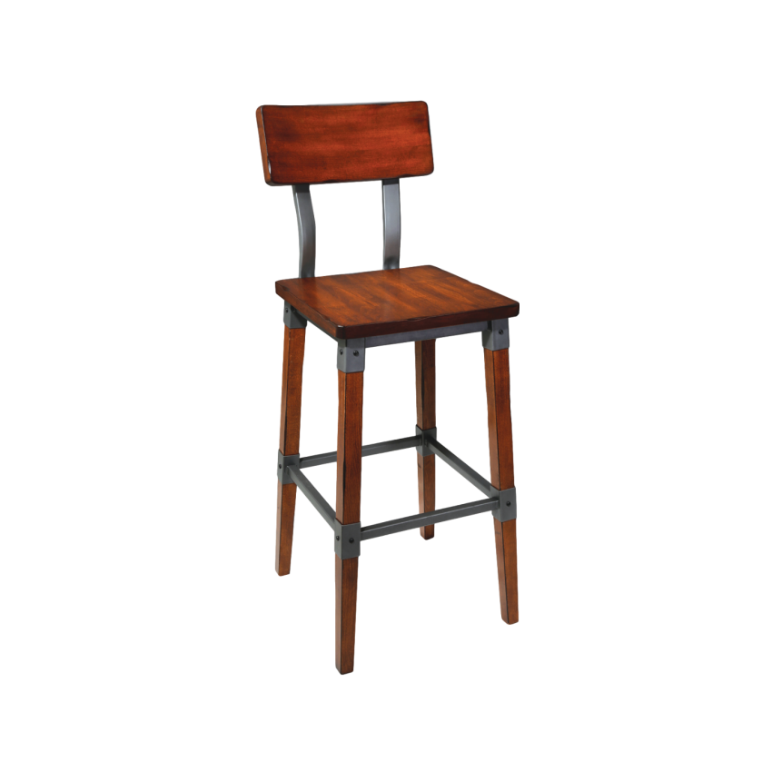 Genoa Barstool 650H AW - Timber Seat/Backrest AW