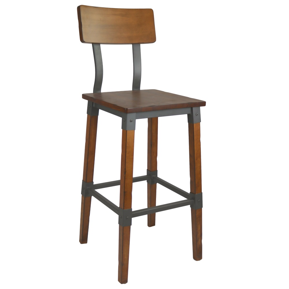 Genoa Barstool 730H Timber Seat/Backrest AW