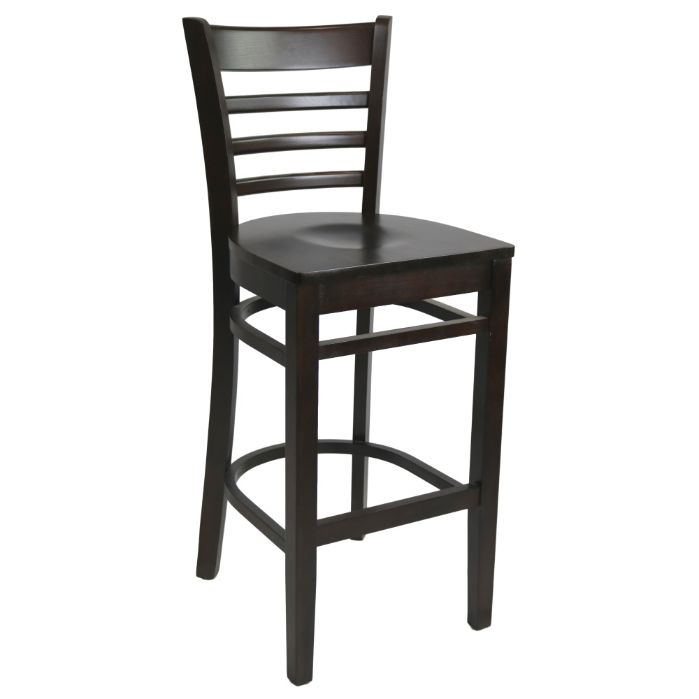 Florence Barstool Chocolate - Ply Seat - Made in Europe