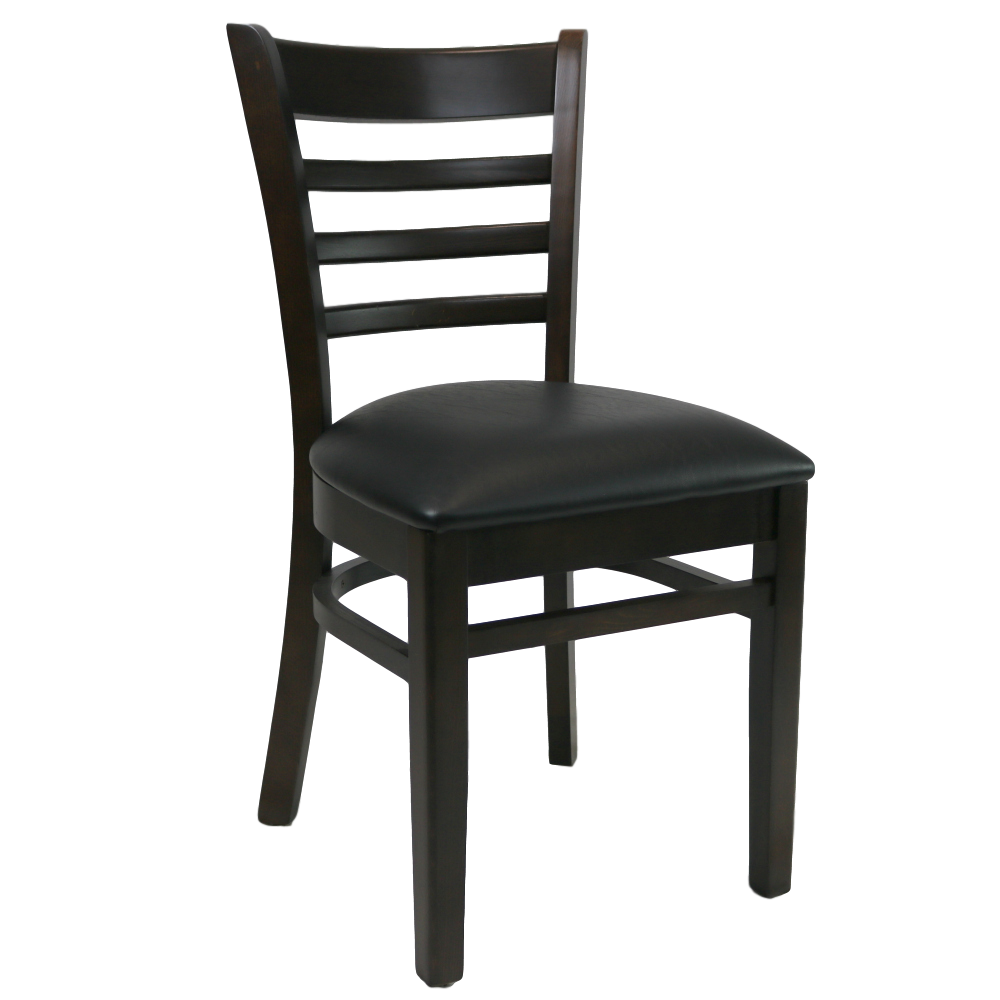 Florence Chair - Chocolate - Vinyl Seat (Black)