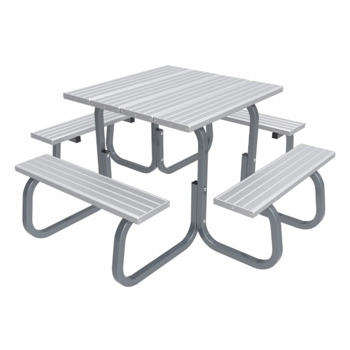 Alfresco 8 Seat Square Table Setting