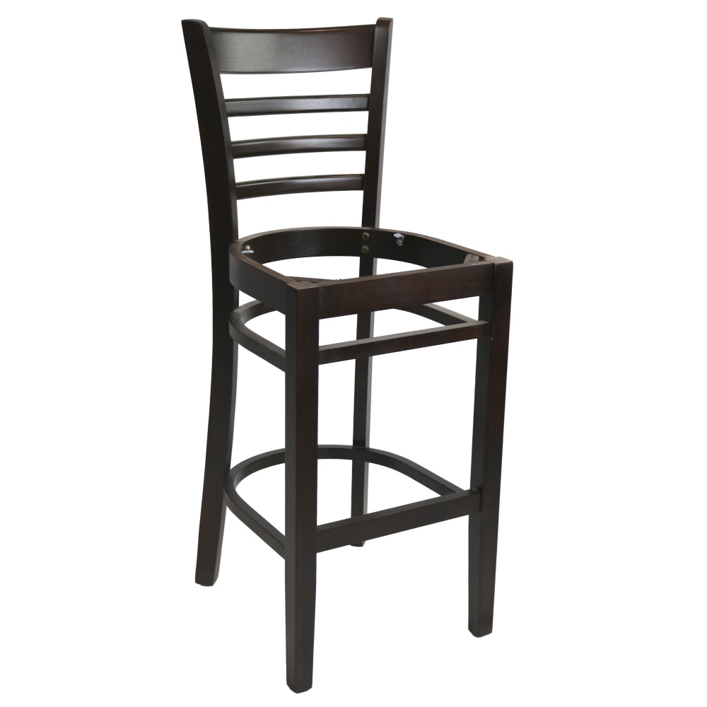 PART Florence Barstool Frame - Chocolate - Made in Europe