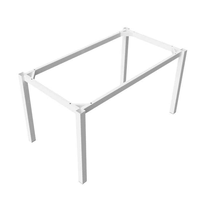 Preston Steel Table Frame 1400x800 - White