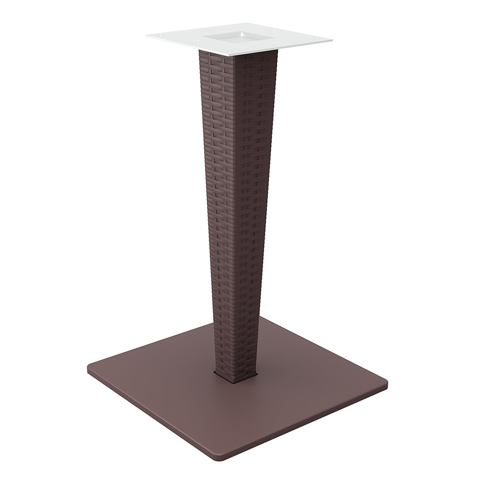 Riva Table Base - Chocolate