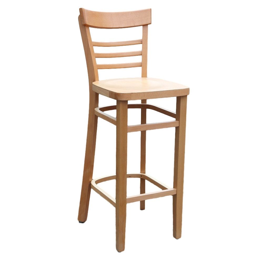 Vienna Barstool - Natural - Timber Seat