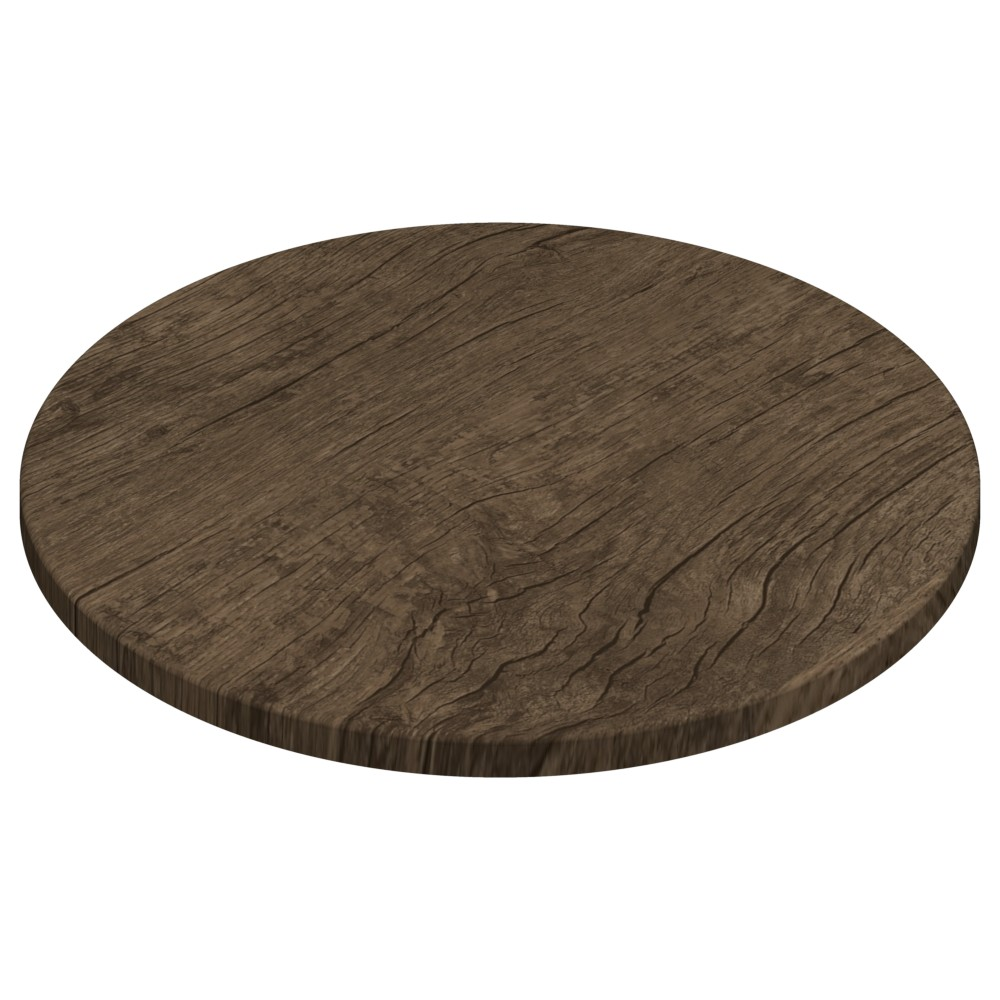 Gentas Rustic Dark Oak Duratop 700mm Diameter