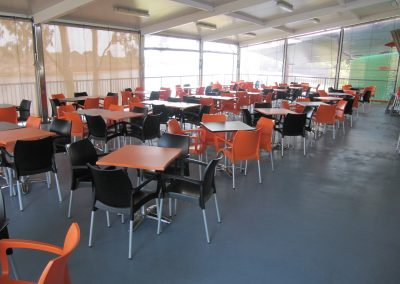 Grunske's by the River – Bundaberg Central QLD - Dolce Chair in Black & Orange - Image 14