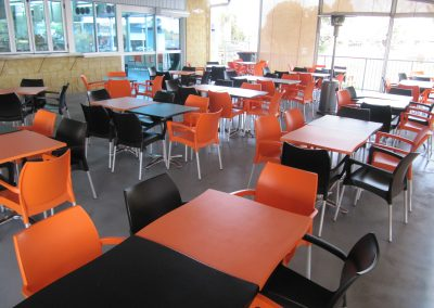 Grunske's by the River – Bundaberg Central QLD - Dolce Chair in Black & Orange - Image 34