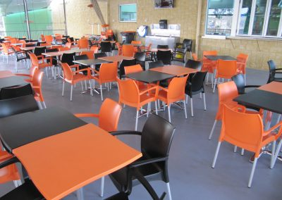 Grunske's by the River – Bundaberg Central QLD - Dolce Chair in Black & Orange - Image 36