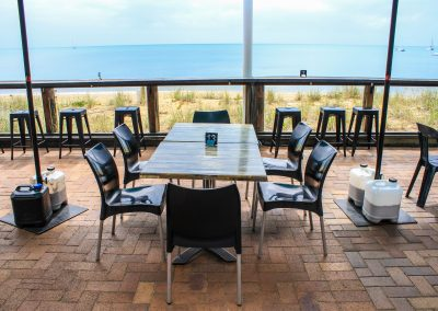 Aquavue Cafe Restaurant Hervey Bay - Vita Chair, Harbour Stools & Titan Folding Table Base - Image 3