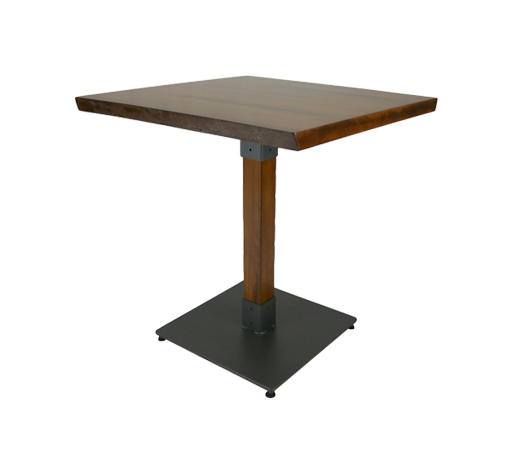 Genoa Table 80SQ - Antique Walnut