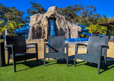 Big4 Tweed Billabong Holiday Park - Tequila Lounge Armchair in Anthracite, Side Table & Fiji Sunlounger in Anthracite - Image 1