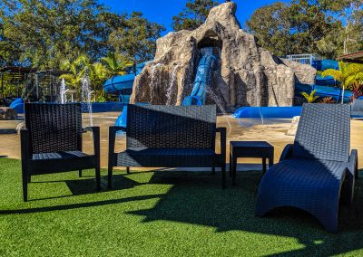 Big4 Tweed Billabong Holiday Park - Tequila Lounge Armchair in Anthracite, Side Table & Fiji Sunlounger in Anthracite