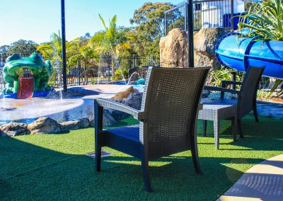 Big4 Tweed Billabong Holiday Park - Tequila Lounge Armchair in Anthracite, Side Table & Fiji Sunlounger in Anthracite - Image 17