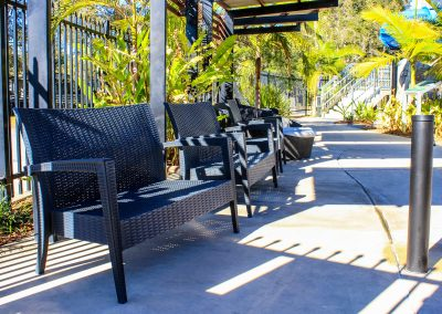 Big4 Tweed Billabong Holiday Park - Tequila Lounge Armchair in Anthracite, Side Table & Fiji Sunlounger in Anthracite - Image 24