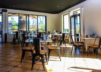 One Cafe Restaurant – Narrabeen - Harbour Chair in Black with Timber Top - Image 3