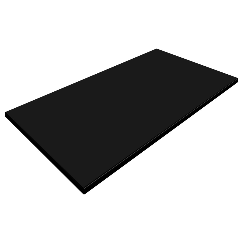SM France Black Duratop 1200 x 800mm Rectangle