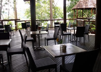 Secrets On The Lake Cafe Montville - Palm Chair & Roma Table Base - Image 1