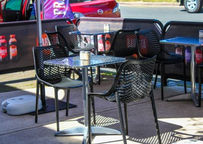 Borella Seafood Black Air Chair & Tables image 6
