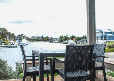 Captains Cove Resort – Paynesville VIC - Ibiza Armchair in Anthracite & Bali Table in Anthracite - Image 4