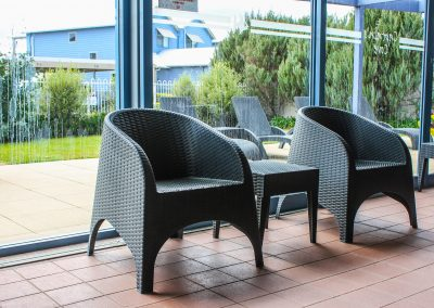 Captains Cove Resort – Paynesville VIC - Tequila Side Tables, Ibiza Armchair in Anthracite & Fiji Sunloungers in Anthracite - Image 7