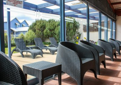 Captains Cove Resort – Paynesville VIC - Tequila Side Tables, Ibiza Armchair in Anthracite & Fiji Sunloungers in Anthracite - Image 9