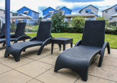 Captains Cove Resort – Paynesville VIC - Tequila Side Tables, Ibiza Armchair in Anthracite & Fiji Sunloungers in Anthracite - Image 14