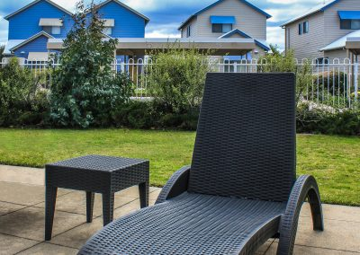 Captains Cove Resort – Paynesville VIC - Tequila Side Tables, Ibiza Armchair in Anthracite & Fiji Sunloungers in Anthracite - Image 15