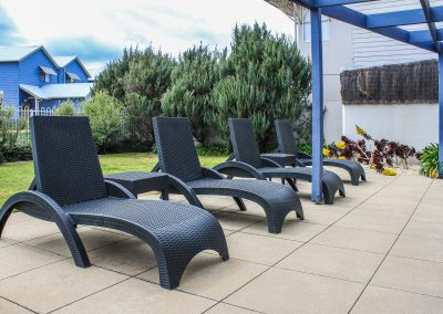 Captains Cove Resort – Paynesville VIC - Tequila Side Tables, Ibiza Armchair in Anthracite & Fiji Sunloungers in Anthracite - Image 17